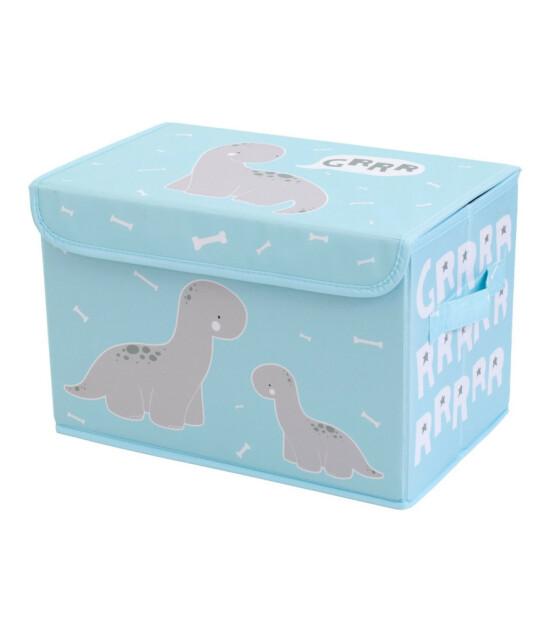 A Little Lovely Company Pop - Up Kapaklı Saklama Kutusu Dinozor (Mavi)
