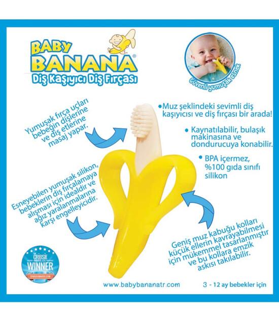 Baby Banana Diş Kaşıyıcı Diş Fırçası (Muz)