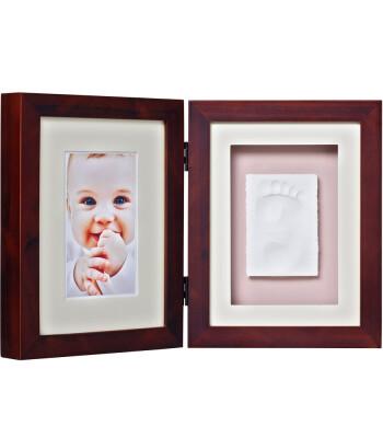 Baby Memory Prints El ve Ayak İzi Masa Çerçevesi (Ceviz)