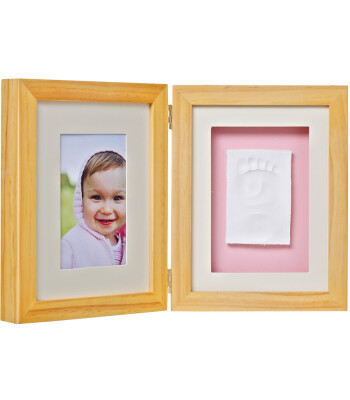 Baby Memory Prints El ve Ayak İzi Masa Çerçevesi (Naturel)