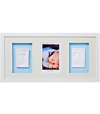 Baby Memory Prints El ve Ayak İzi 3'lü Çerçeve (Beyaz)