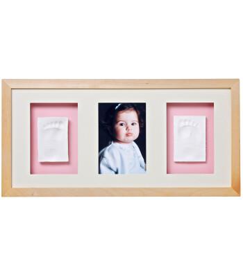 Baby Memory Prints El ve Ayak İzi 3'lü Çerçeve (Naturel)
