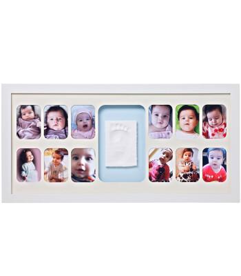 Baby Memory Prints El ve Ayak İzi 12 Aylık Çerçeve (Beyaz)