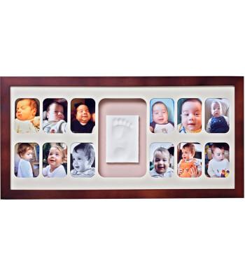 Baby Memory Prints El ve Ayak İzi 12 Aylık Çerçeve (Ceviz)