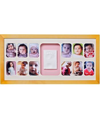 Baby Memory Prints El ve Ayak İzi 12 Aylık Çerçeve (Naturel)