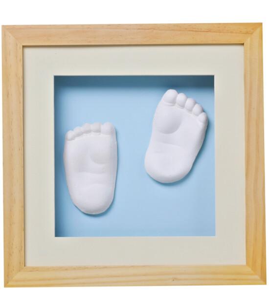 Baby Memory Prints El Ve Ayak Izi 3d Cerceve Naturel Keyif