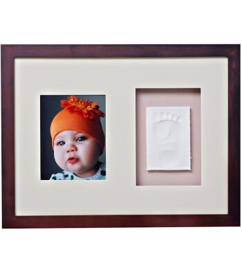 Baby Memory Prints El ve Ayak İzi Duvar Çerçevesi (Ceviz)