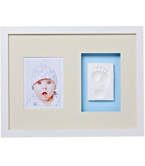 Baby Memory Prints El ve Ayak İzi Duvar Çerçevesi (Beyaz)