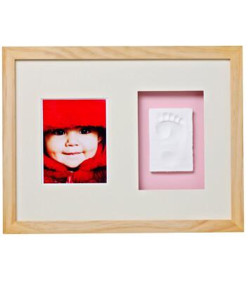Baby Memory Prints El ve Ayak İzi Duvar Çerçevesi (Naturel)