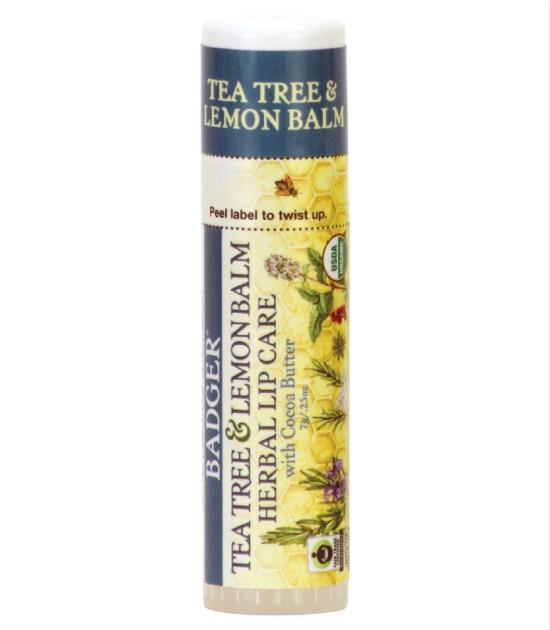 Badger Kakao Yağı Dudak Balmı (Çay Ağacı ve Limon)