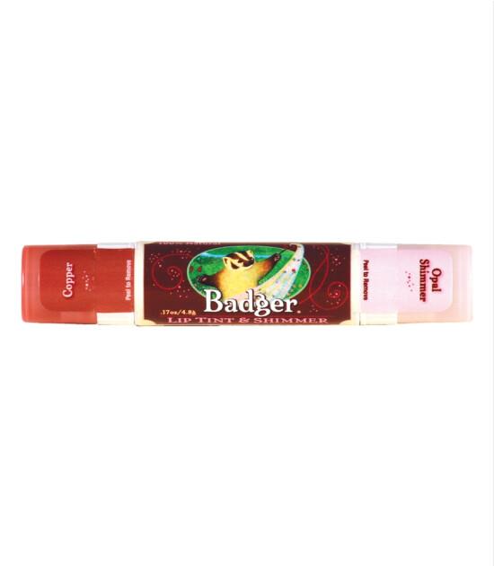 Badger Lip Tint & Shimmer Copper / Dudak Parlatıcı ve Renklendirici