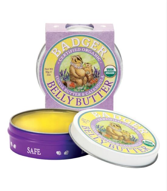 Badger Hamile Karın Bölgesi Yoğun Nemlendirici Balm / Kakao & Calendula (56 gr)