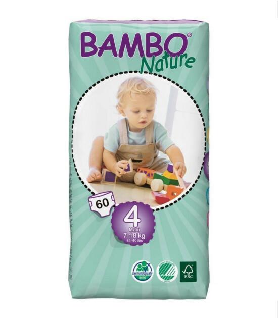 Bambo Nature No:4 Maxi // 7-18 kg (60 Adet)