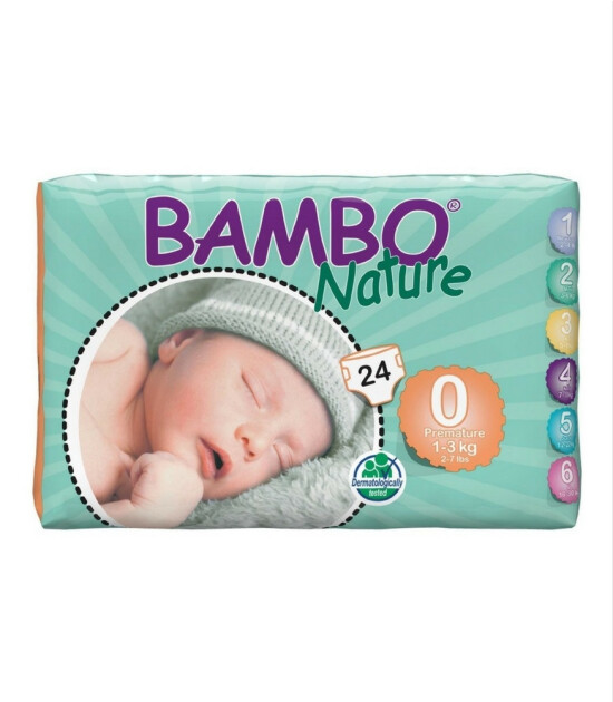 Bambo Nature No:0 Prematüre 1-3 kg (24 Adet)