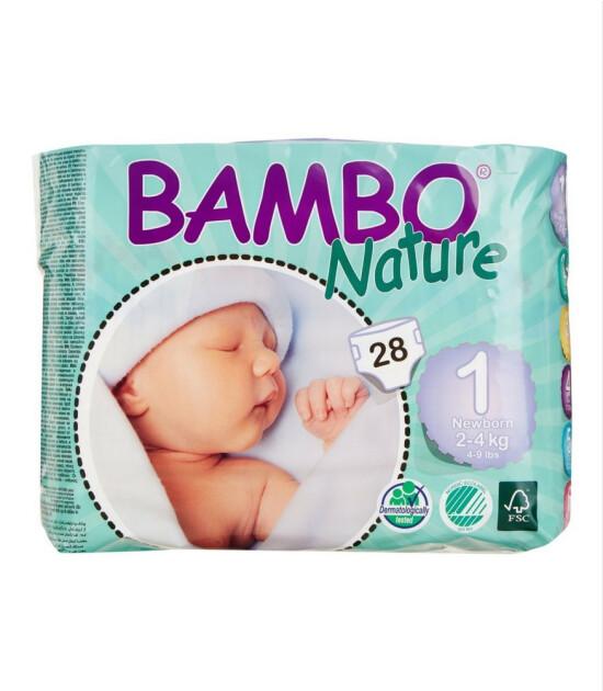 Bambo Nature No:1 Yenidoğan 2-4 kg (28 Adet)