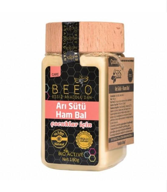 BEE'O Arı Sütü & Ham Bal Karışımı // Çocuk (190 g)