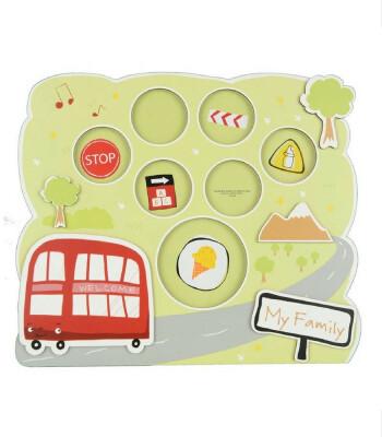 Gifthing Ailem Fotoğraf Çerçevesi (Kırmızı Otobüs)