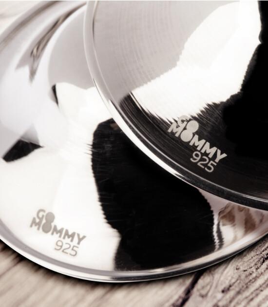 GoMommy Gümüş Göğüs Ucu Koruma Kapak - Parlak