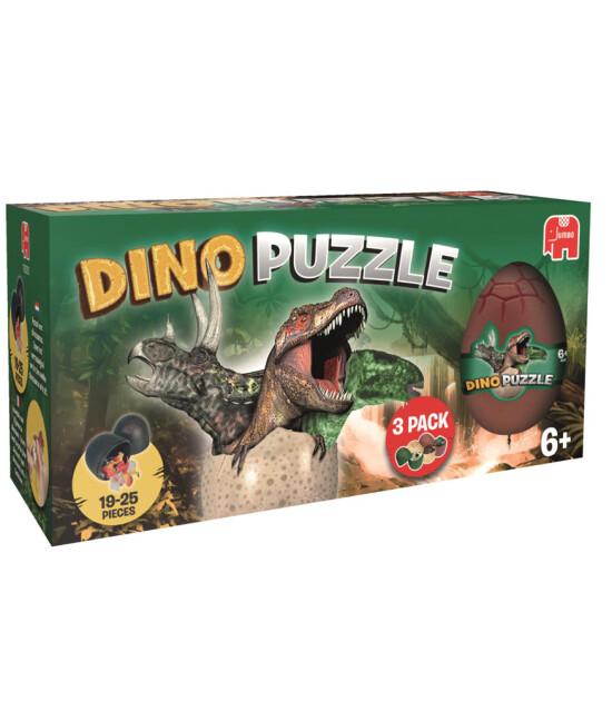 Jumbo Puzzle Egg Dinosaurs / 3'lü Paket