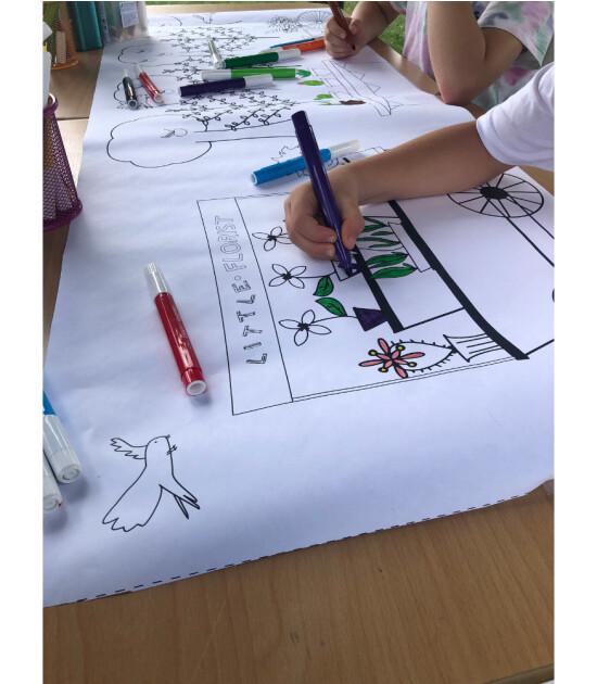 Little Maker Boyama Rulosu // My Little Village Coloring Roll