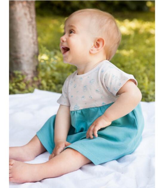 Little Yucca Marshmallow Elbise (Turkuaz)