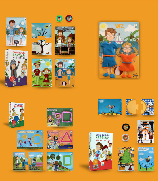 Ludio Minima Oyun Hamur Kartları 3'lü Set (Şekiller & Mevsimler & Hikayeler)