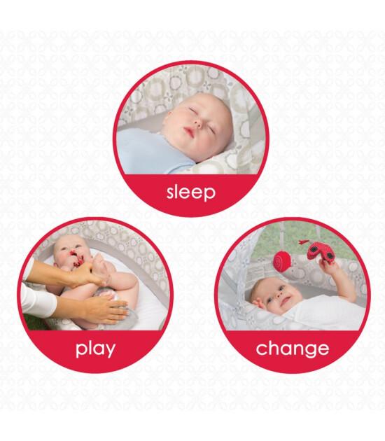 LulyBoo Taşınabilir Bebek Yatağı Işıklı ve Müzikli