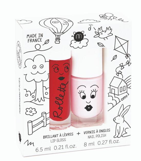 Nailmatics Dudak Parlatıcı & Su Bazlı Oje Set // Kids Cottage