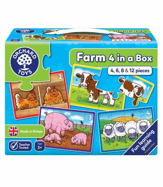 Orchard Toys Çiftlik 4 Puzzle Bir Arada