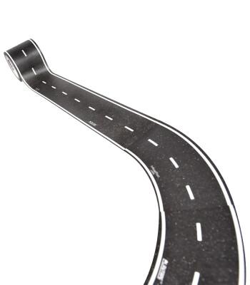 PlayTape Klasik Yol Serisi Geniş Viraj Yol Bandı - Siyah (2in)
