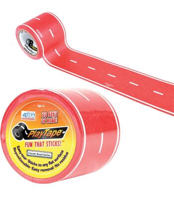 PlayTape Klasik Yol Serisi Yol Bandı - Kırmızı (30ftx2in)
