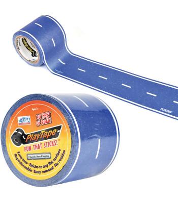 PlayTape Klasik Yol Serisi Yol Bandı - Mavi (30ftx2in)