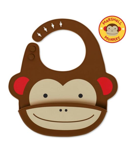 Skip Hop Zoo Cepli Silikon Mama Önlük (Maymun)