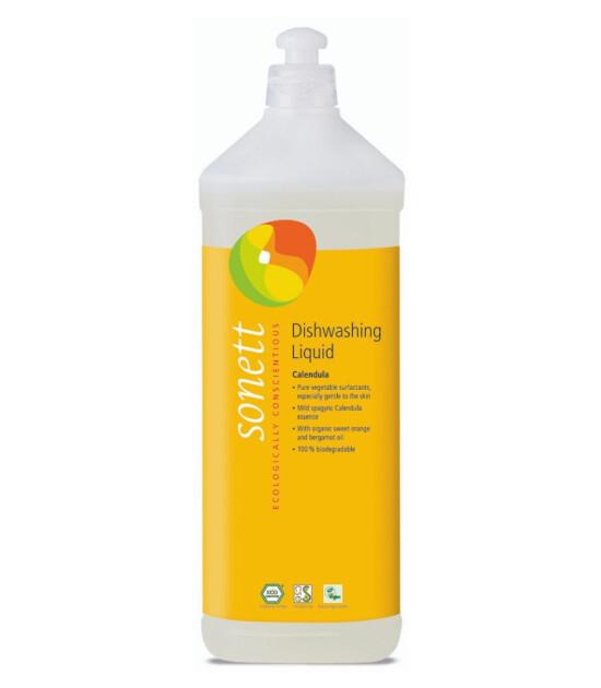 Sonett Organik Elde Bulaşık Yıkama Sıvısı (Altıncık Çiçekli) - 1 Lt