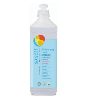 Sonett Organik Nötral Elde Bulaşık Yıkama ve Çok Amaçlı Sıvı Temizleyici - Hassas (0,5 lt)