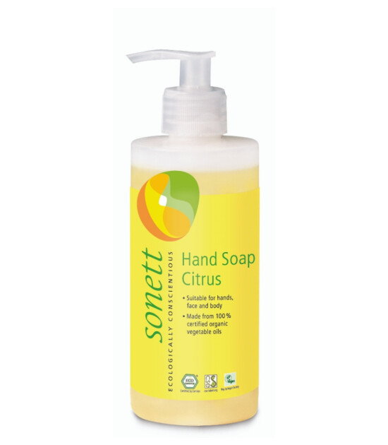 Sonett Organik Sıvı El Sabunu - Limonotlu (300 ml)