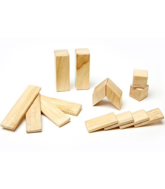 Tegu Mıknatıslı Ahşap Oyuncak 14 Parça Klasik Set (Naturel)