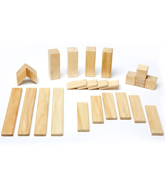 Tegu Mıknatıslı Ahşap Oyuncak 24 Parça Klasik Set (Naturel)