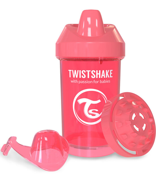 TwistShake Crawler Cup Damlatmaz Suluk Şeftali (300 ml)