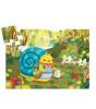 Djeco Dekoratif Puzzle // Snail Goes Plant Picking (24 Parça)