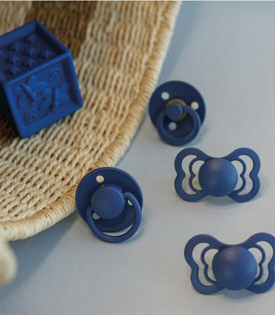 Bibs Couture Damaklı Kauçuk Emzik (6-18 Ay) // Steel Blue