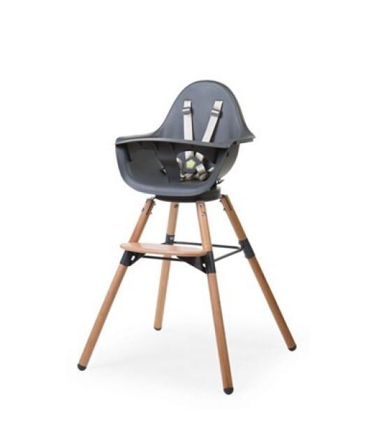 Childhome Evolu 180° Mama Sandalyesi + Ön Tepsi (Naturel / Antrasit)