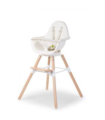 Childhome Evolu 180° Mama Sandalyesi + Ön Tepsi (Naturel / Beyaz)
