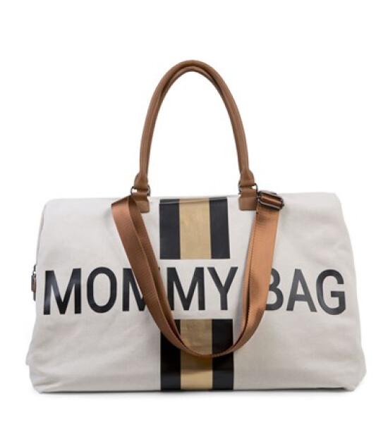Childhome Mommy Bag Anne Bebek Bakım Çantası Büyük Boy Kanvas // Beyaz