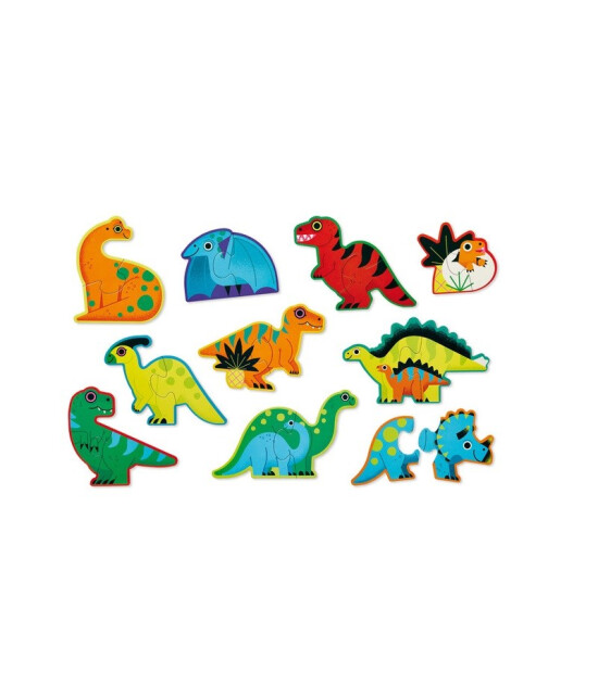 Crocodile Creek İlerleyen Duo Puzzle Set // Dinozorlar