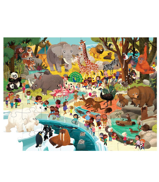 Crocodile Creek Puzzle // Müzede Bir Gün - Hayvanat Bahçesi (48 Parça)