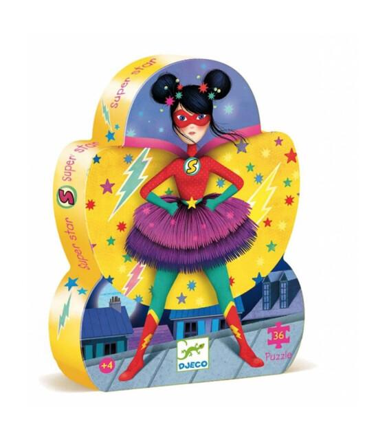 Djeco Dekoratif Puzzle 36 Parça // Süper Star