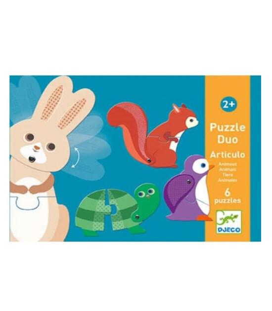 Djeco Duo Puzzle Set // Articulo Animals