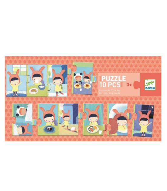 Djeco İlerleyen Puzzle 10 Parça/Bir Gün