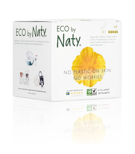 Eco By Naty İnce Hijyen Pedi (Gece Boyu) - 10 adet